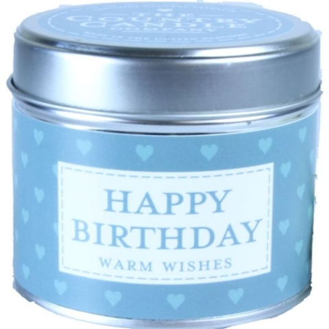 Happy Birthday - Warm Wishes Candle In A Tin